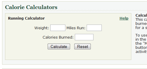 weight loss calorie counter