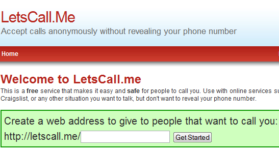 lets call me anonymous   LetsCall.Me: Get Calls without Revealing your Phone Number