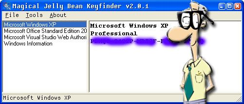 recover windows xp product key