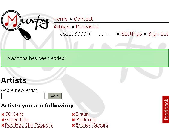 Muspy - Get Album Release Dates