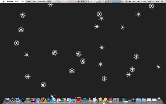 9 Useless Applications Just For Fun [Mac Only] snowflakes