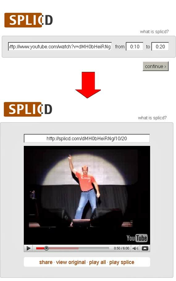 splicd   Splicd: Crop and Cut Parts from YouTube Videos