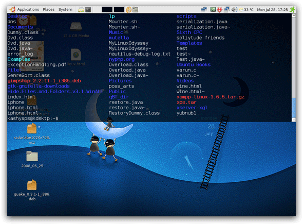 5 Cool Apps to Make the Linux Terminal More Productive tilda shot
