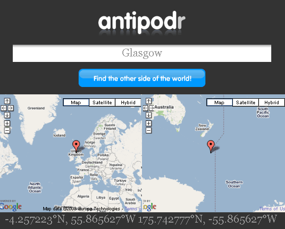 antipodr   Antipodr: See What Is On Opposite Side Of The World