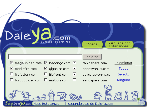 daleya   Daleya: Search Files on Megaupload and Rapidshare