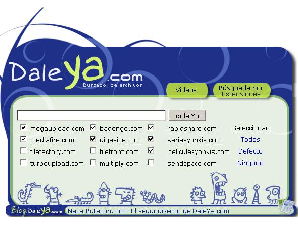 daleya   Daleya: Search Files on Megaupload and Rapidshare
