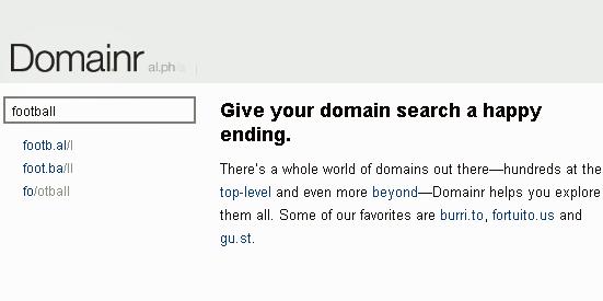domainr - cool domain name generator