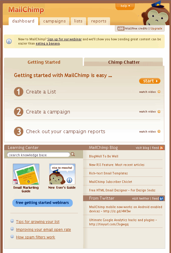 Mailchimp - Newsletter Sending Service