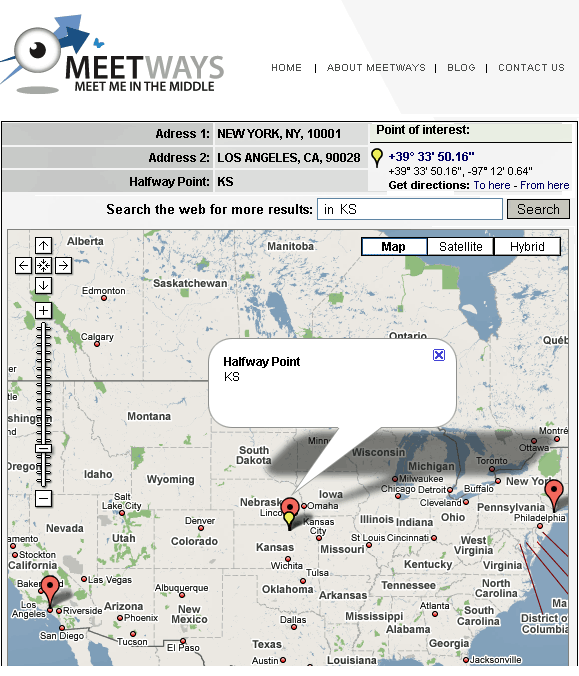meetways -  find a meeting point in the middle