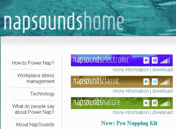 napsounds   6 Free White Noise Sites To Relax Or Set Yourself To Sleep