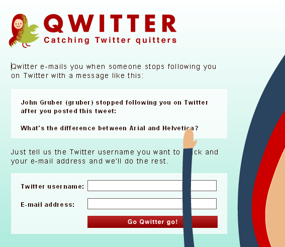 qwitter   Qwitter: Find Out Whos Unfollowing You On Twitter