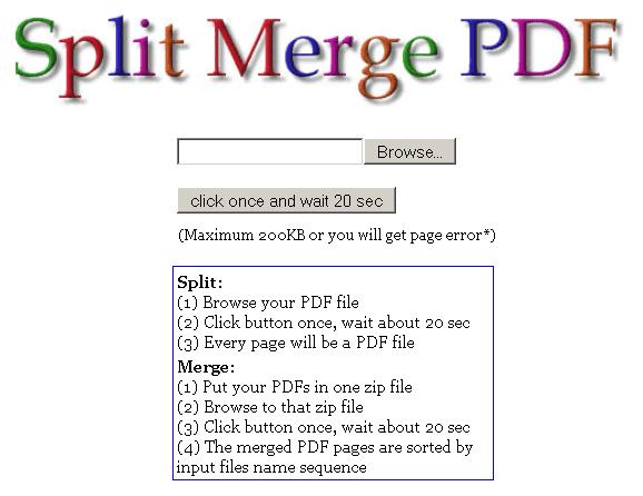 PDF Splitting and Merging Online