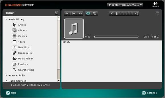 squeezecenter - stream MP3 music from PC
