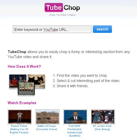 TubeChop - cut Youtube videos