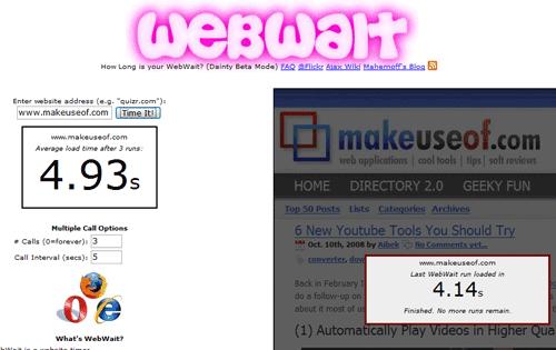 webwait - test website load speed