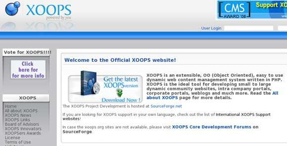 xoops - best open source social network script