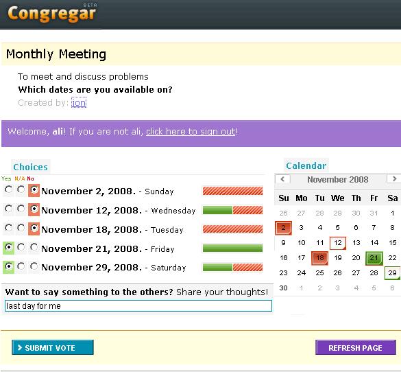 Congregar- schedule group meetings