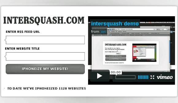 Intersquash - make sites iPhone friendly
