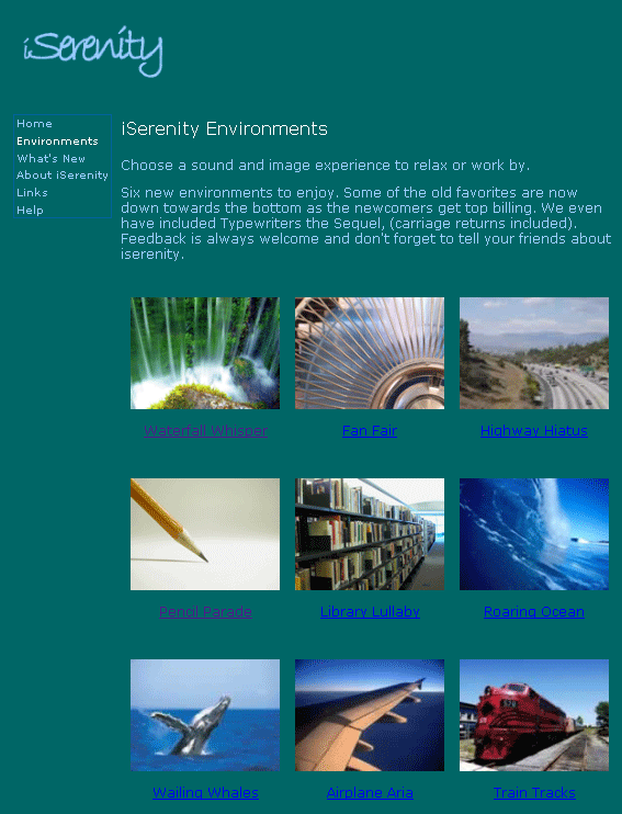 iserenity   iSerenity: Free Ambient Music Sounds To Help You Relax