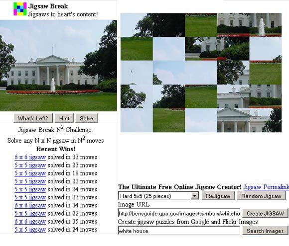 jigsawbreak - play Jigsaw puzzles online