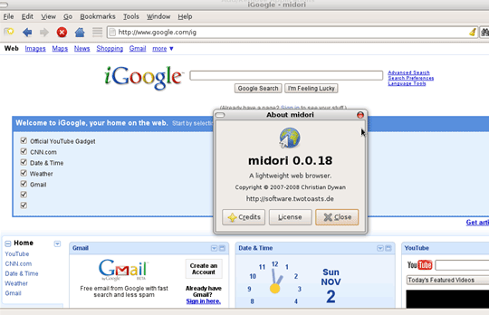 midori - light weight web browser