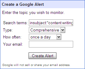 10 Uses of Google Alerts For A Freelancer tracktopic