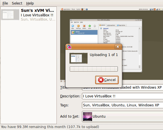 Flick uploader linux