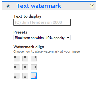 add watermark to images