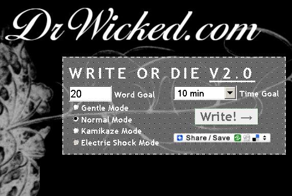 Write or Die - writing reminders