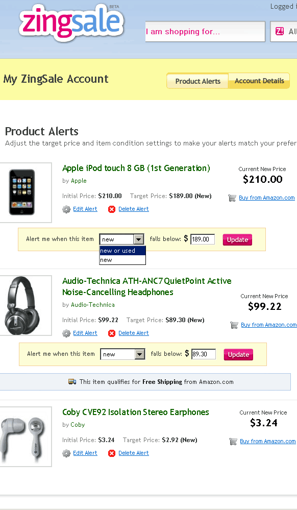 Get Email Alert When The Product Goes On Sale