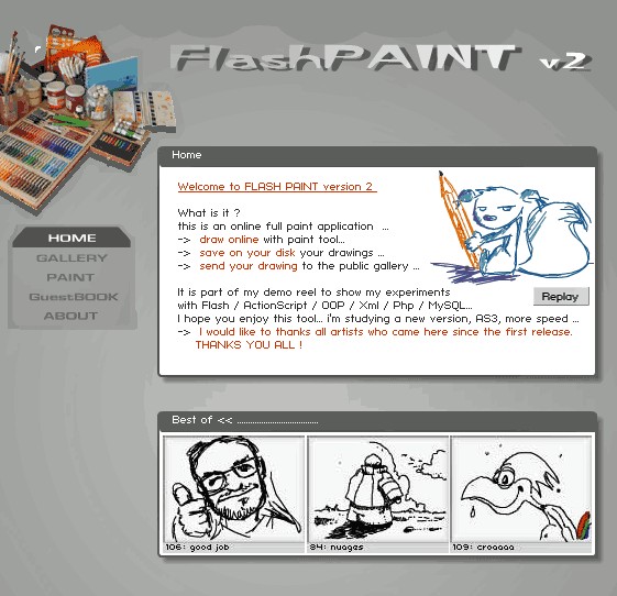 R For Rakesh Flashpaint Online Drawing Tool