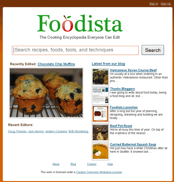 wiki recipe website