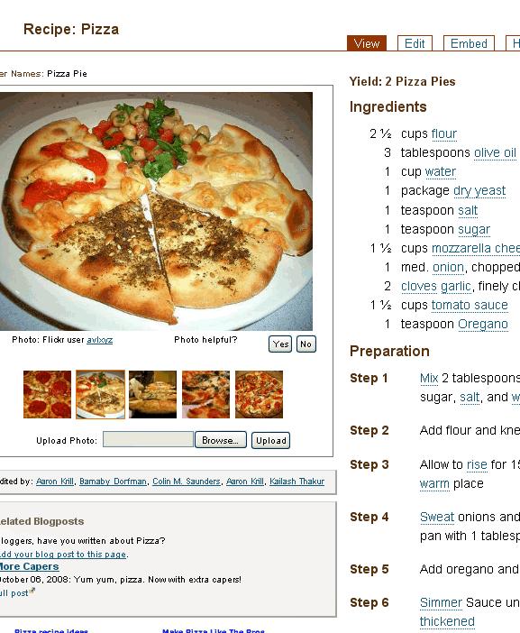 wiki recipe