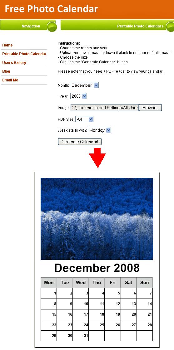 print photo calendars online