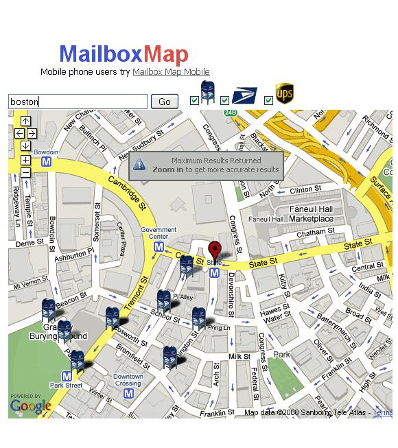 mailboxmap   MailboxMap: Find Nearest Mailbox Locations