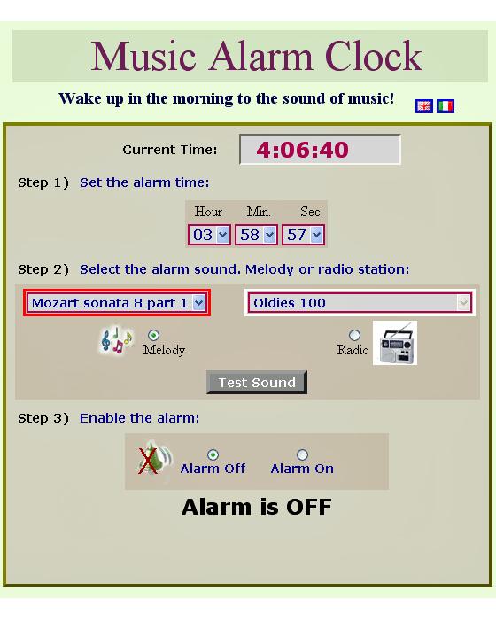 online alarm radio