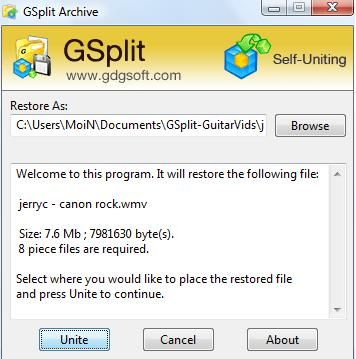 gsplit -split large files into smaller ones