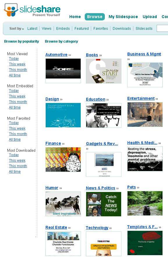slideshare   SlideShare: Share Powerpoint Presentations Online