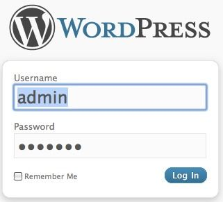 How To Install WordPress Blog Locally On Your PC 09 log in