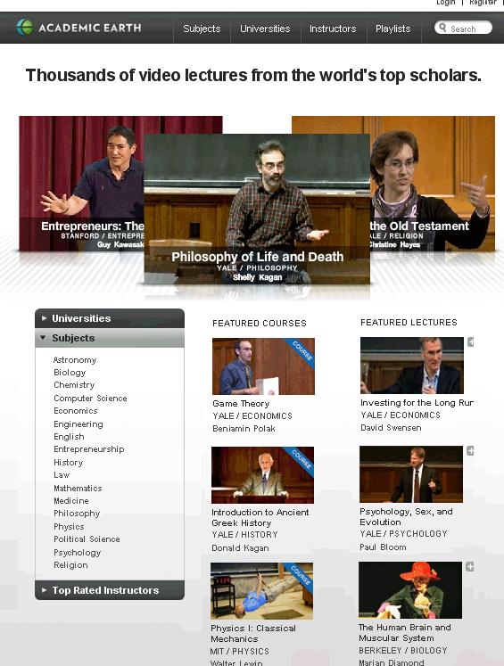 university lectures online