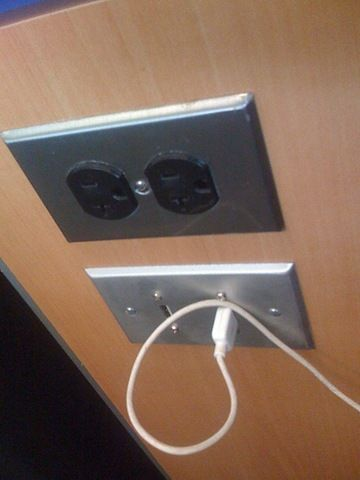 airport power outlets