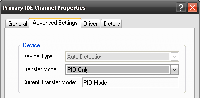 Check Your IDE Transfer Mode To Make Your PC Faster change to pio