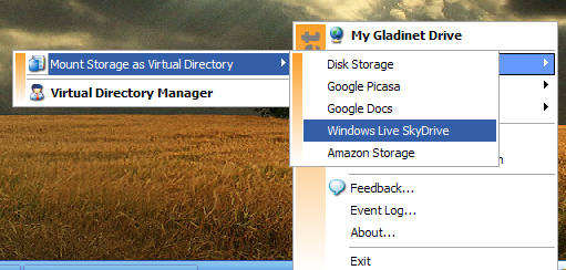 Map Online Service As a Network Drive with Gladinet (Windows) createstoreageglad