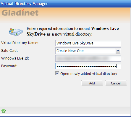 Map Online Service As a Network Drive with Gladinet (Windows) detailsglad