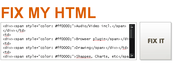 cleaning html code
