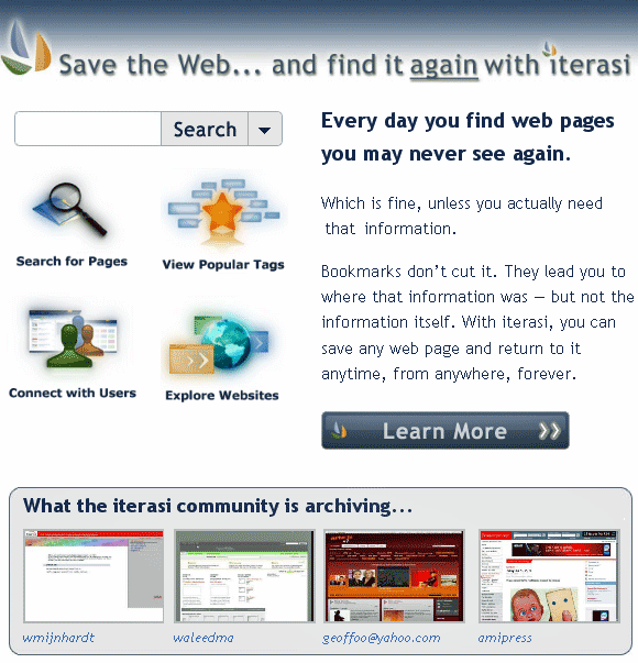 saving web pages online