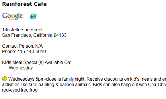 restaurants with kids eat free