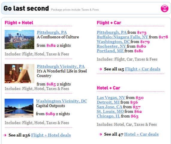 LastMinute - last minute booking site