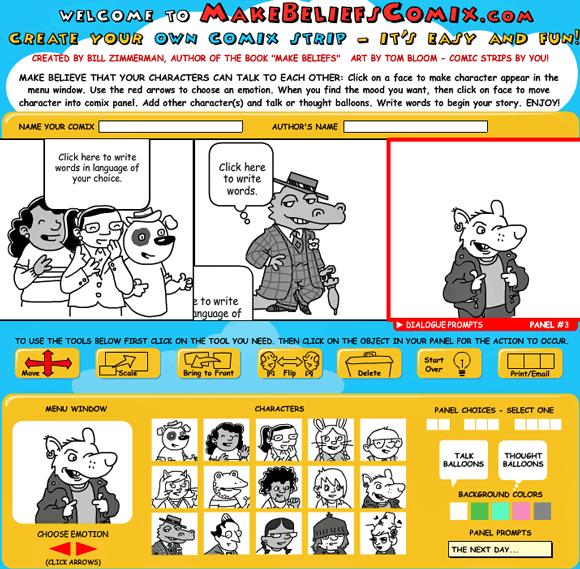 makebeliefscomix   MakeBeliefsComix: Online Comic Strip Generator