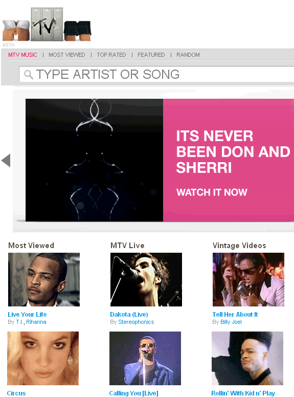 mtvmusic   MTV Music: MTVs Music Video Archive